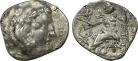 ASIA MINOR. Galatians? Imitations of Alexander III 'the Great' of Macedon (3rd-2nd centuries BC). Drachm. Obv: Stylized head of Herakles right, wearin...