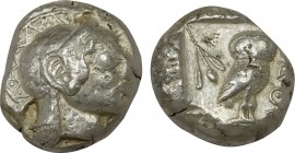ATTICA. Athens. Tetradrachm (Circa 485/0 BC).