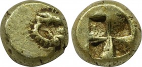 IONIA. Phokaia. EL HemiHekte (Circa 521-478 BC). Obv: Two seals, belly-to-belly, swimming in opposite directions. Rev: Quadripartite incuse square. Bo...