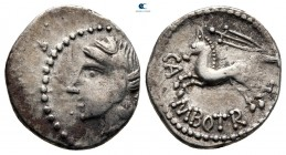 Central Gaul. Bituriges Cubi and Lemovices 200-0 BC. Quinarius AR