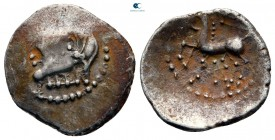 Central Gaul. Lemovices circa 100-50 BC. Quinarius AR