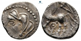 Central Gaul. Lemovices circa 100-50 BC. 'à l'épée' type. Quinarius AR
