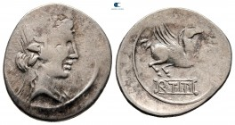 Eastern Europe. Imitations of Roman Republican after 75 BC. Imitating Q. Titius. Denarius AR