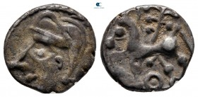 Central Gaul. Bituriges Cubi and Lemovices circa 75-50 BC. Quinarius AR