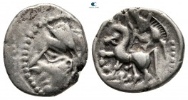 Central Gaul. Bituriges Cubi and Lemovices circa 70-50 BC. Quinarius AR
