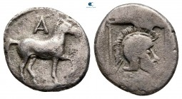 Kings of Macedon. Aigai. Alexander I 498-454 BC. Struck circa 476-460 BC. Tetrobol AR