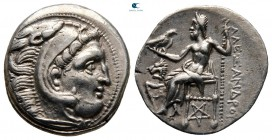 "Kings of Macedon. Kolophon. Alexander III ""the Great"" 336-323 BC. Struck under Lysimachos, circa 300 BC. Drachm AR"