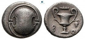 Boeotia. Federal Coinage circa 395-340 BC. Hemidrachm AR