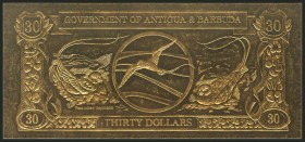 ANTIGUA Y BARBUDA. 30 Dollars. 1981. Uncirculated.