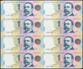 ARGENTINA. Two plates (in incut matrix) of 1 Peso. 1993. Correlative Series. (Pick: 339b). Uncirculated.