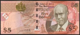 BAHAMAS. 5 Dollars. 2002. (Pick: 72). Uncirculated.