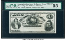 Argentina Provincia de Buenos Ayres 4 Pesos Oro 8.11.1881 Pick S537p Proof PMG About Uncirculated 55.   HID09801242017  © 2020 Heritage Auctions | All...