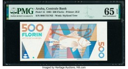 Aruba Centrale Bank 500 Florin 16.7.1993 Pick 15 PMG Gem Uncirculated 65 EPQ.   HID09801242017  © 2020 Heritage Auctions | All Rights Reserved