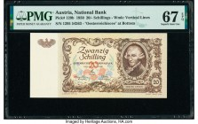 Austria Austrian National Bank 20 Schilling 2.1.1950 Pick 129b PMG Superb Gem Unc 67 EPQ.   HID09801242017  © 2020 Heritage Auctions | All Rights Rese...