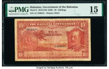 Bahamas Bahamas Government 10 Shillings 1919 (ND 1930) Pick 6 PMG Choice Fine 15.   HID09801242017  © 2020 Heritage Auctions | All Rights Reserved