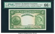 Bahamas Bahamas Government 4 Shillings 1936 (ND 1953) Pick 13d PMG Gem Uncirculated 66 EPQ.   HID09801242017  © 2020 Heritage Auctions | All Rights Re...