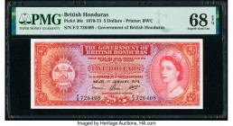 British Honduras Government of British Honduras 5 Dollars 1.1.1973 Pick 30c PMG Superb Gem Unc 68 EPQ.   HID09801242017  © 2020 Heritage Auctions | Al...