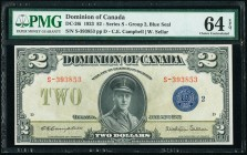 Canada Dominion of Canada $2 23.6.1923 Pick 34i DC-26i PMG Choice Uncirculated 64 EPQ.   HID09801242017  © 2020 Heritage Auctions | All Rights Reserve...