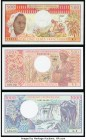 Central African Republic and Gabon Group of 3 Examples Crisp Uncirculated. Possible trimming is evident.  HID09801242017  © 2020 Heritage Auctions | A...
