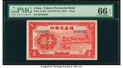 China Fukien Provincial Bank 1 Yuan 1939 Pick S1420 S/M#F27-50 PMG Gem Uncirculated 66 EPQ.   HID09801242017  © 2020 Heritage Auctions | All Rights Re...