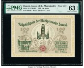 Danzig Senate of the Municipality - Free City 100 Mark 31.10.1922 Pick 13 PMG Choice Uncirculated 63 EPQ.   HID09801242017  © 2020 Heritage Auctions |...