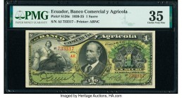 Ecuador Banco Comercial y Agricola 1 Sucre 22.12.1923 Pick S126c PMG Choice Very Fine 35. Ink Stamp.  HID09801242017  © 2020 Heritage Auctions | All R...
