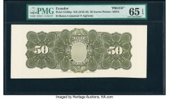 Ecuador Banco Comercial y Agricola 50 Sucres ND (1916-18) Pick S130bp Back Proof PMG Gem Uncirculated 65 EPQ.   HID09801242017  © 2020 Heritage Auctio...