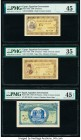 Egypt Egyptian Government 5 (2); 10 Piastres 1940 Pick 164a; 165a; 167b PMG Choice Very Fine 35; Choice Extremely Fine 45; Choice Extremely Fine 45 EP...