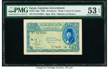 Egypt Egyptian Government 10 Piastres 1940 Pick 168a PMG About Uncirculated 53 EPQ.   HID09801242017  © 2020 Heritage Auctions | All Rights Reserved
