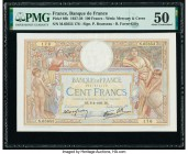 France Banque de France 100 Francs 6.4.1939 Pick 86b PMG About Uncirculated 50.   HID09801242017  © 2020 Heritage Auctions | All Rights Reserved