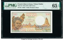 French Afars & Issas Tresor Public 500 Francs ND (1975) Pick 33 PMG Gem Uncirculated 65 EPQ.   HID09801242017  © 2020 Heritage Auctions | All Rights R...
