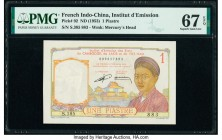 French Indochina Institut d'Emission des Etats 1 Piastre ND (1953) Pick 92 PMG Superb Gem Unc 67 EPQ.   HID09801242017  © 2020 Heritage Auctions | All...