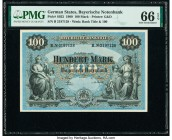 German States Bayerische Notenbank 100 Mark 1.1.1900 Pick S922 PMG Gem Uncirculated 66 EPQ.   HID09801242017  © 2020 Heritage Auctions | All Rights Re...