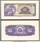 Haiti Banque Nationale de la Republique d'Haiti 100 Gourdes 1919 Pick 166p Front and Back Proofs Gem Crisp Uncirculated(2). Two POCs on back proof.  H...