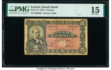 Iceland Islands Banki 5 Kronur 1904 Pick 10 PMG Choice Fine 15.   HID09801242017  © 2020 Heritage Auctions | All Rights Reserved
