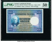 Iceland Landsbanki Islands 100 Kronur 15.4.1928 Pick 35b PMG About Uncirculated 50 EPQ.   HID09801242017  © 2020 Heritage Auctions | All Rights Reserv...