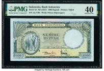 Indonesia Bank Indonesia 1000 Rupiah ND (1957) Pick 53 PMG Extremely Fine 40.   HID09801242017  © 2020 Heritage Auctions | All Rights Reserved