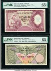 Indonesia Bank Indonesia 5000; 1000 Rupiah 1958; 1959 Pick 64; 71b Two Examples PMG Gem Uncirculated 65 EPQ(2).   HID09801242017  © 2020 Heritage Auct...