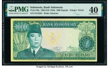 Indonesia Bank Indonesia 1000 Rupiah 1960 (ND 1964) Pick 88a PMG Extremely Fine 40.   HID09801242017  © 2020 Heritage Auctions | All Rights Reserved