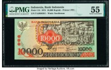 Indonesia Bank Indonesia 10,000 Rupiah 1975 Pick 115 PMG About Uncirculated 55.   HID09801242017  © 2020 Heritage Auctions | All Rights Reserved