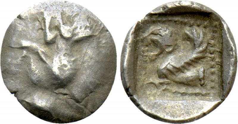 GREEKS. Uncertain (Lycia?). Tetartemorion (4th century BC). 