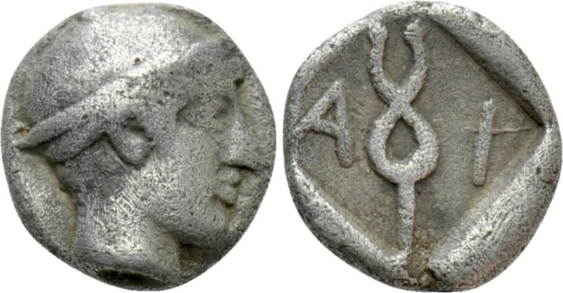 THRACE. Ainos. Diobol (Circa 464-460 BC). 