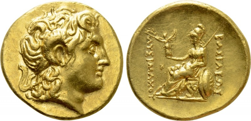 KINGS OF THRACE (Macedonian). Lysimachos (305-281 BC). GOLD Stater. Uncertain. 