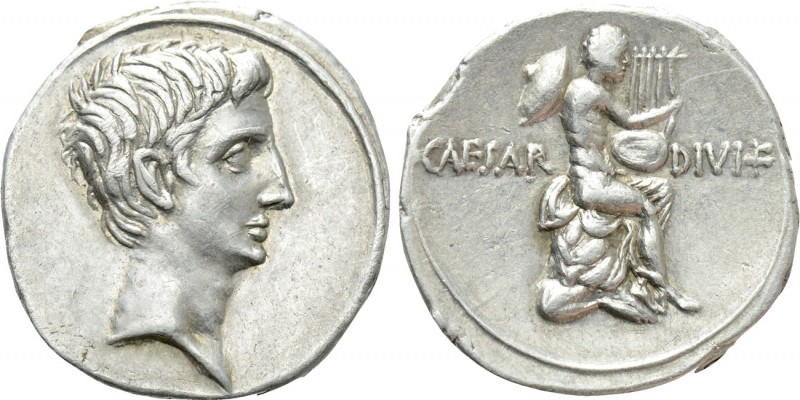 OCTAVIAN. Denarius (32/31 BC). Uncertain Italian mint (Rome?).