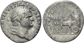 "TITUS (79-81). Denarius. Rome. ""Judaea Capta"" commemorative"