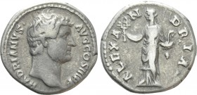 "HADRIAN (117-138). Denarius. Rome. ""Travel Series"" issue"