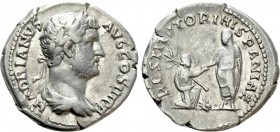 "HADRIAN (117-138). Denarius. Rome. ""Restitutor Series"" issue"