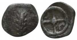 Lucania. Metapontion circa 520-500 BC. Hemiobol AR