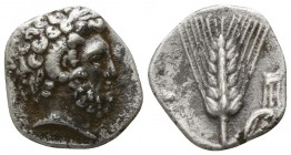 Lucania. Metapontion circa 325-275 BC. Diobol AR
