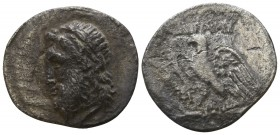 Sicily. Unknown city (possibly Akragas) circa 300-200 BC. Drachm AR (?)